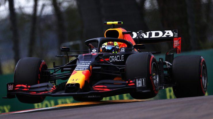 Em Ímola, Pérez largará em segundo pela primeira vez na carreira (Crédito: Red Bull / Twitter)