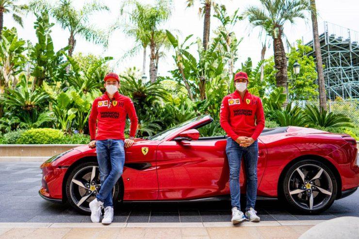 GP de Mônaco 2021, Carlos Sainz, Ferrari Portofino, Charles Leclerc,