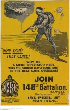 ...questioning one's character and masculinity. These kind of posters also help to instill negative attitudes in the general public towards men who chose not to fight.