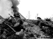The South Saskatchewan Regiment along the Oranje Canal on April 12, 1945.