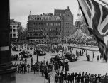The Dutch royal family lived in exile in Ottawa during the German occupation of the Netherlands. This picture is of the parade in Amsterdam on June 28, 1945, that welcomed the return of Queen Wilhelmina.