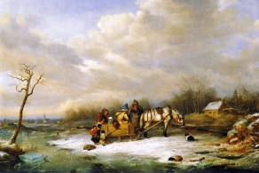 Habitant Family with Horse and Sleigh