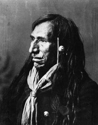 Rabbit Carrier, Blackfoot. (A. Ross, 1888).