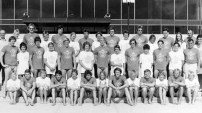 Canada's Swimming Team at the 1972 Munich Games. Bruce Robertson and Leslie Cliff took home silvers. Donna Gurr and the 4×100m men's relay team (Erik Fish, William Mahony, Bruce Robertson, and Robert Kasting) took home bronze.