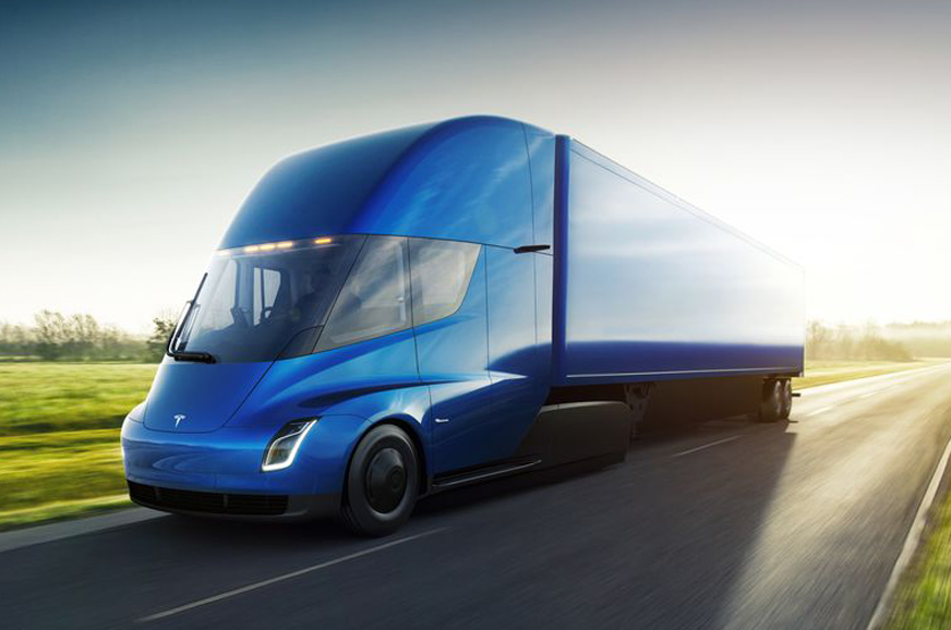 All Electric Tesla Semi Truck Revealed Autocar India