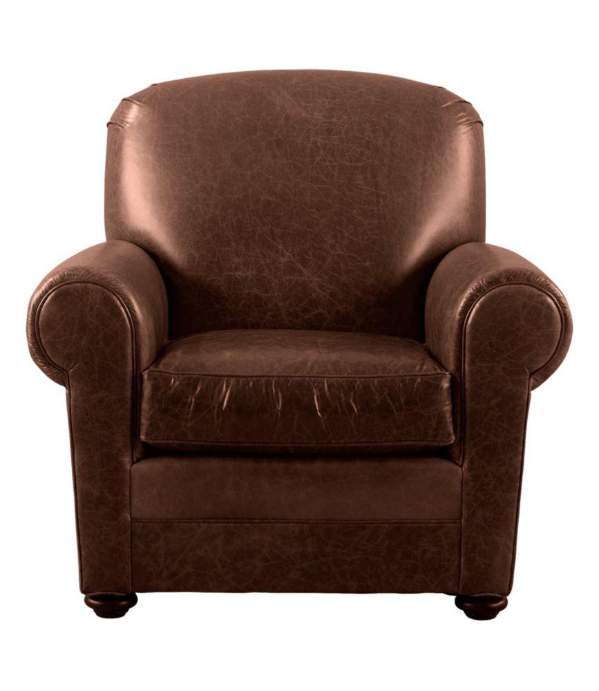 L L Bean Leather Lodge Chair