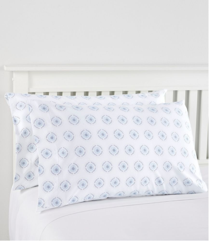 280 thread count pima cotton percale pillowcases print set of two