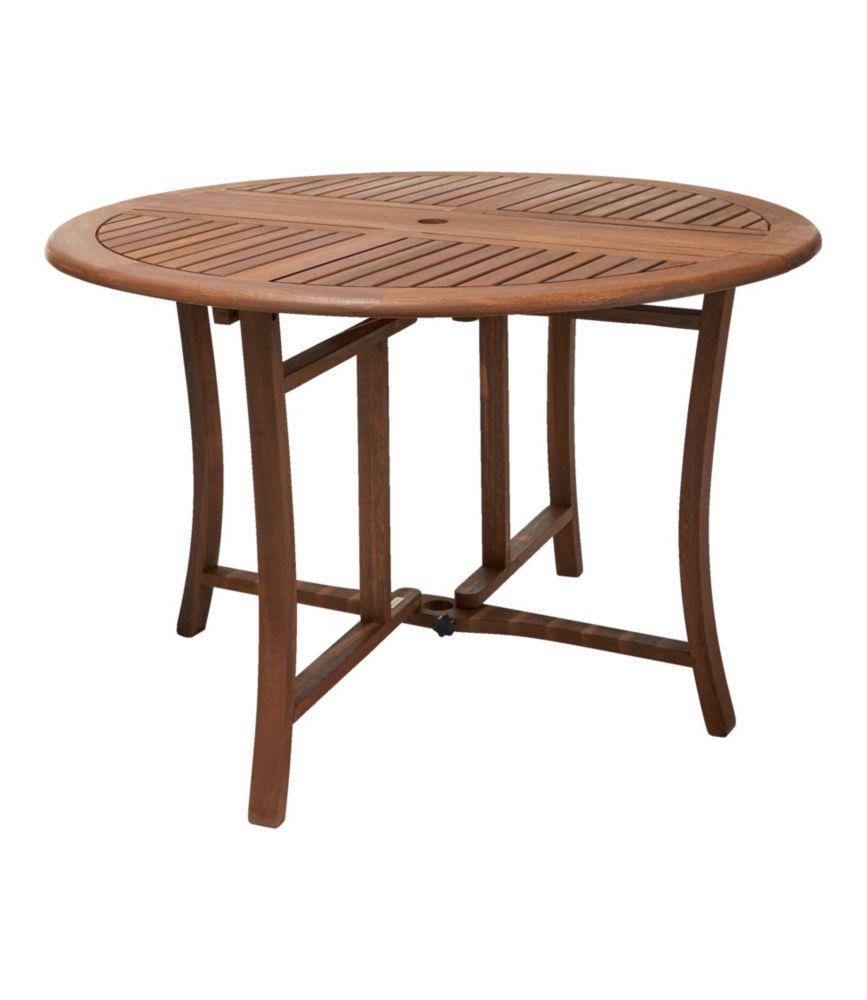 eucalyptus folding table round