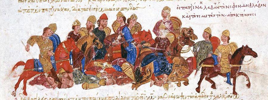 Печенези убијају Свјатослава Игоревича.