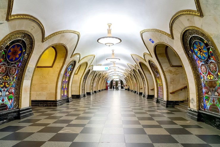 Novoslobodskaya metro station (Moscow). With all due respect, have you seen such beauty in New York?