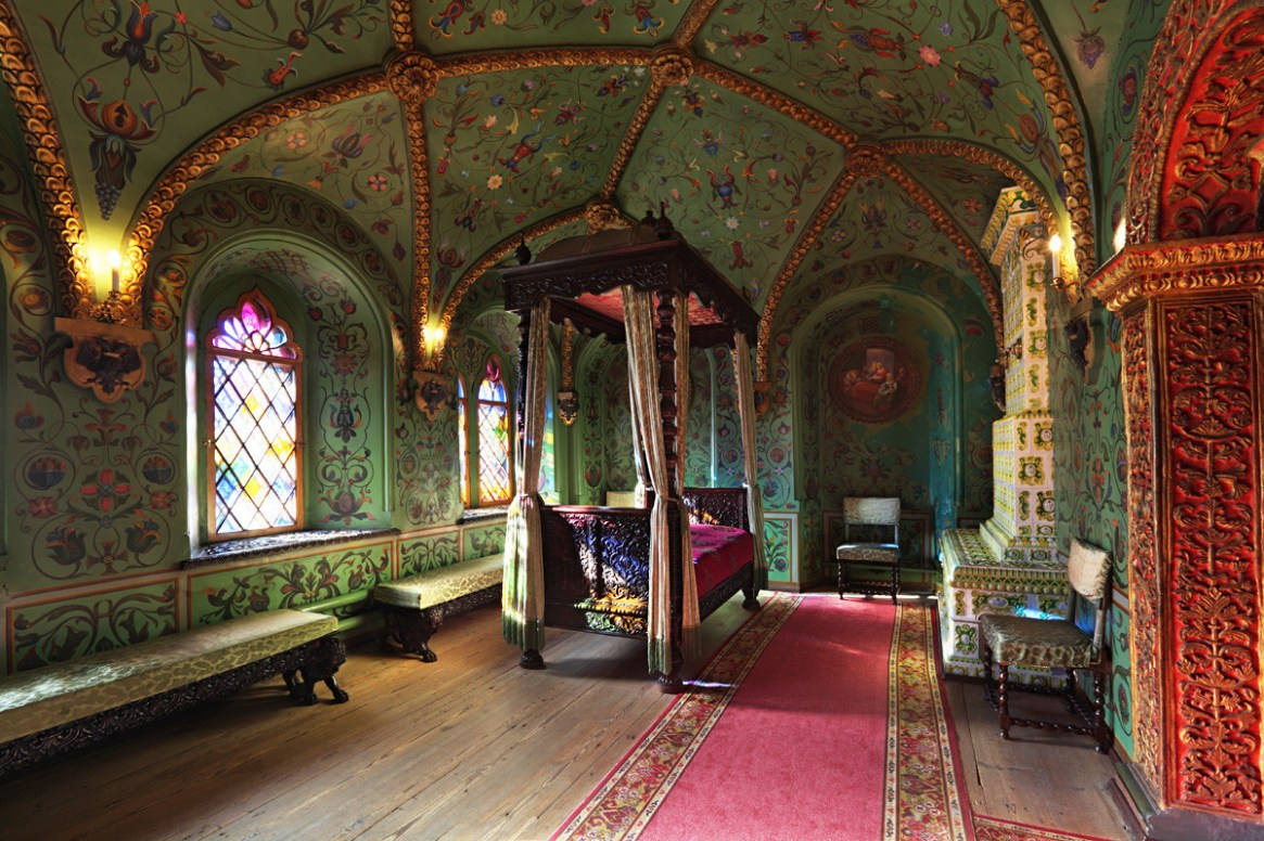 The bedroom in the Terem Palace of the Moscow Kremlin