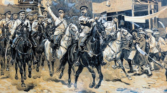 Russian cavalry in China.