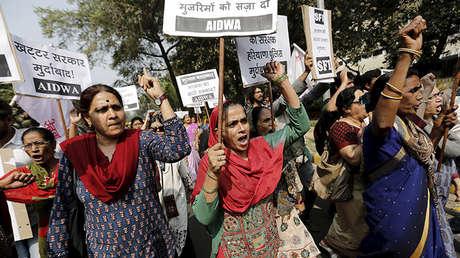 Manifestación en Nueva Delhi contra las agresiones sexuales
