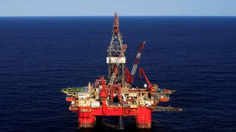 La plataforma petrolera Centenario en el golfo de México