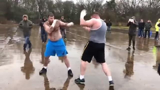 'Hulk' contra 'Big Foot': La brutal pelea secreta de los 80.000 dólares (FUERTE VIDEO)