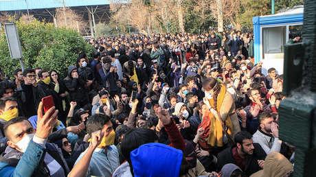 Multitudinarias protestas en Irán.