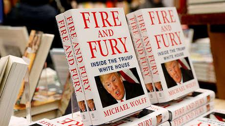 Copias del libro 'Fuego y furia: Dentro de la Casa Blanca de Trump' en una librería en Nueva York (EE.UU.), el 5 de enero de 2018.