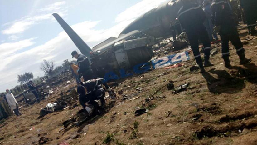 PRIMERAS IMÁGENES: Se estrella un avión militar con 200 personas en Argelia