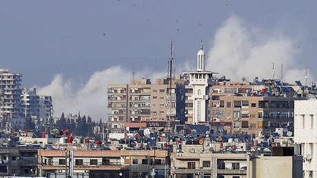 La ciudad siria de Harasta (Guta Oriental), 14 de abril de 2018