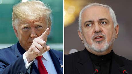 Donald Trump (izquierda) y Javad Zarif.