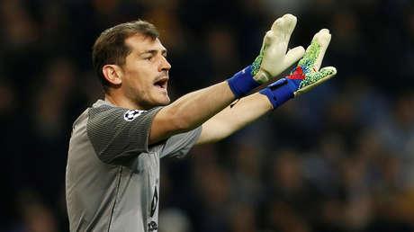 El guardameta español Iker Casillas. Porto, Portugal, 6 de marzo de 2019.