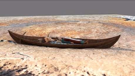 VIDEO: Encuentran una barca fúnebre vikinga dentro de otra, con restos humanos de 100 años de diferencia