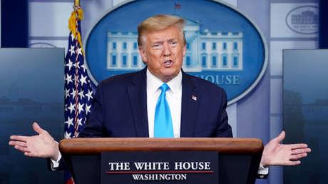 """Trump amenaza a la OMS con """"una suspensión muy poderosa"""" de pagos por desacuerdos sobre el covid-19 y la acusa de """"estar muy centrada en China"""""""
