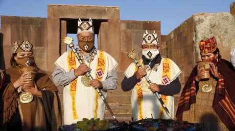 VIDEO: Arce y Choquehuanca son juramentados en una ceremonia ancestral indígena