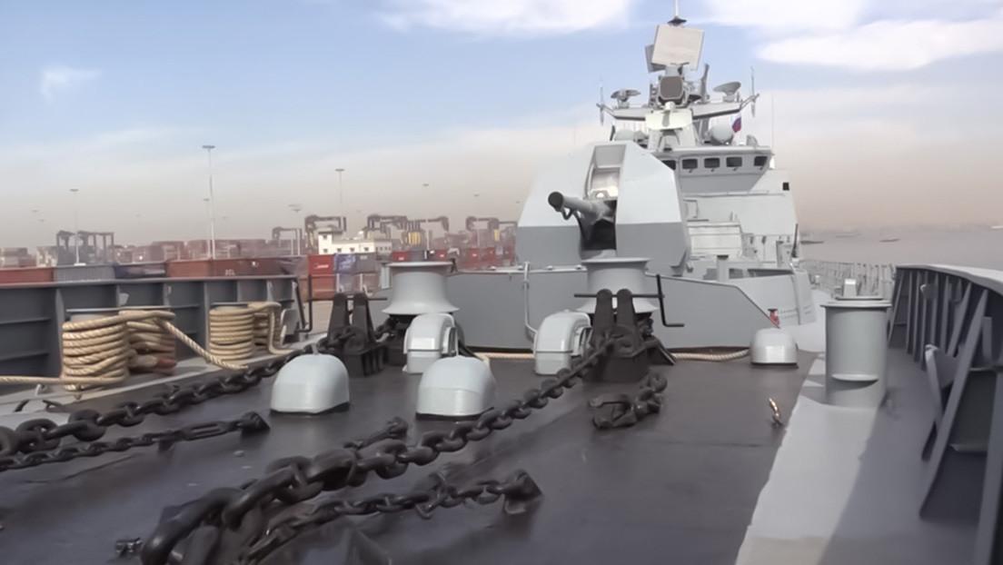 VIDEO: Naves militares rusas zarpan al mar Arábigo desde Pakistán para participar en el ejercicio naval AMAN-2021