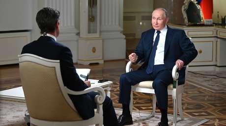 """""""No le gusta mi respuesta, no quiere que sea escuchada"""": Putin critica al periodista por """"amordazarlo"""" durante la entrevista con la NBC (VIDEO)"""