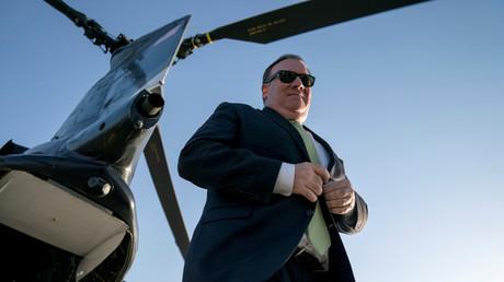 US-Außenminister Mike Pompeo möchte um positiven Einfluss in Zentraleuropa werben Bild: Pompeo in Kabul, Afghanistan, Juli 2018.