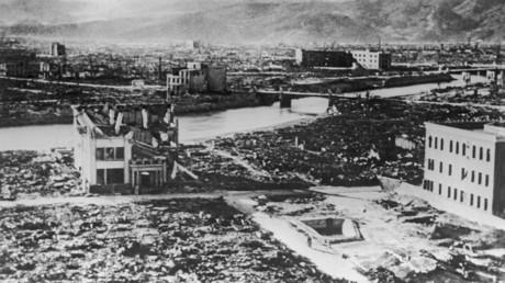 Hiroshima nach dem Einschlag der US-Atombombe