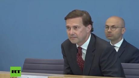 Steffen Seibert am Montag auf der Bundespressekonferenz in Berlin (24. August 2020)