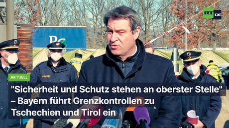 """""""Sicherheit und Schutz an oberster Stelle""""– Bayern führt Grenzkontrollen zu Tschechien und Tirol ein"""