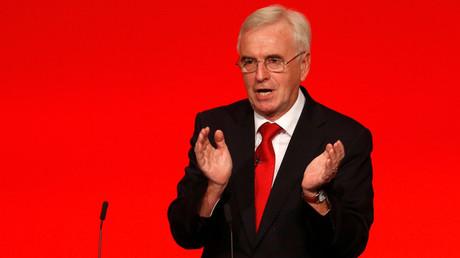 Britain's opposition Labour Party Shadow Chancellor John McDonnell © Peter Nicholls