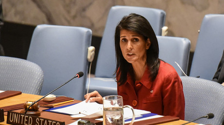 United States Ambassador to the United Nations Nikki Haley delivers remarks at the Security Council meeting © Stephanie Keith