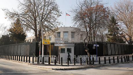 General view of the U.S. Embassy in Ankara, Turkey. ©Umit Bektas