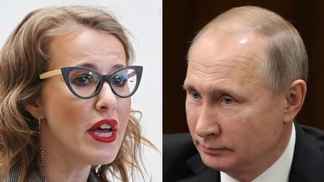 Presidential candidate Ksenia Sobchak and President Vladimir Putin © Sputnik