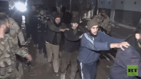 First group of militants surrender arms & leave East Ghouta after Russia-brokered talks