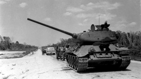 A tank of the Cuban Armed Forces near the site of the Bay of Pigs invasion, 19 April 1961 © Prensa Latina