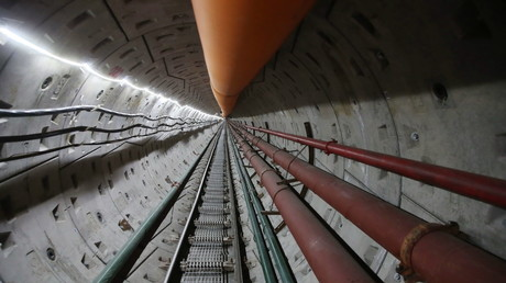 Second tunnel under Amur River for Power of Siberia gas pipeline © Gazprom