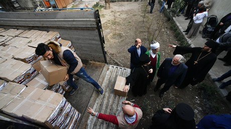 The distribution of humanitarian aid from various religious communities of Russia, in Damascus ©