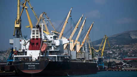 Commercial port of Novorossiysk, Russia © Vladimir Astapkovich