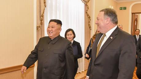 5c2ae270fc7e937b018b463d Kim pledges denuclearization, but warns N. Korea will seek 'a new way' if US flouts promises