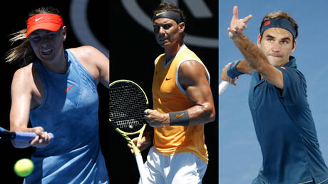5c3c6efedda4c8f00f8b45dc Federer, Nadal, Sharapova off to powerful start as Australian Open kicks off in Melbourne