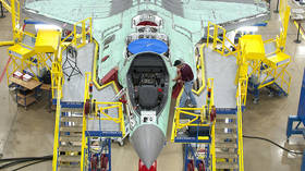 FILE PHOTO. F-35 fighter jet seen at an assembly line.