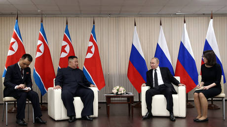5cc19d1bdda4c8a5308b4578 'We have no secrets from US': Putin says he is ready to tell Trump about Kim talks