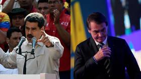 Nicolas Maduro and Jair Bolsonaro © (L) Federico Parra / AFP; (R) Adriano Machado / Reuters