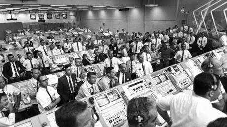 Sea of white: The mission control for Apollo 11