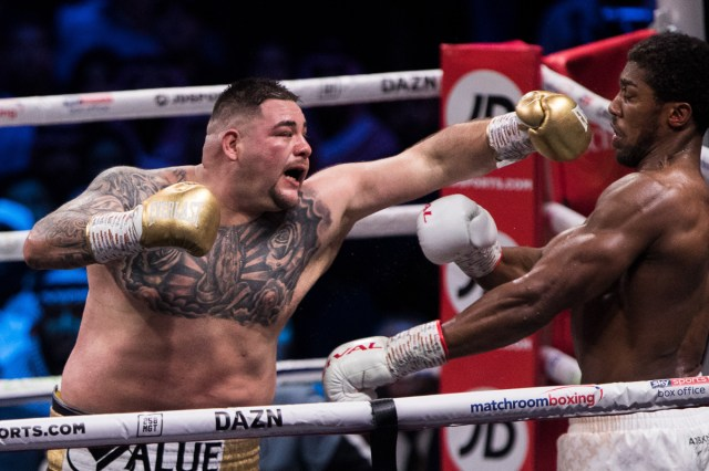 5decc4a72030275427351192 Andy Ruiz Jr vs Anthony Joshua 2 in pictures: 16 great shots from the 'Clash on the Dunes' as Joshua reclaims his titles (PHOTOS)